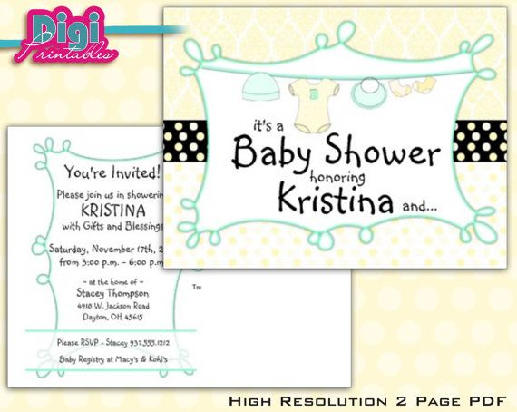 GENDER SURPRISE Baby Shower Invitation Postcard by digiprintables, www.DigiPrintables.Etsy.com OR www.Zazzle.com/DigiFoto*/gifts?cg=196074218937599645