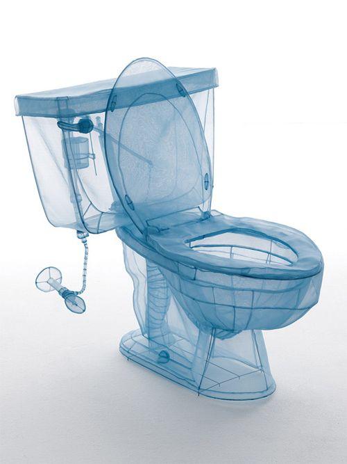 【実物大】3Dスキャンと布で作られた「透明の家屋、家具」その素晴らしい仕事に目を奪われる