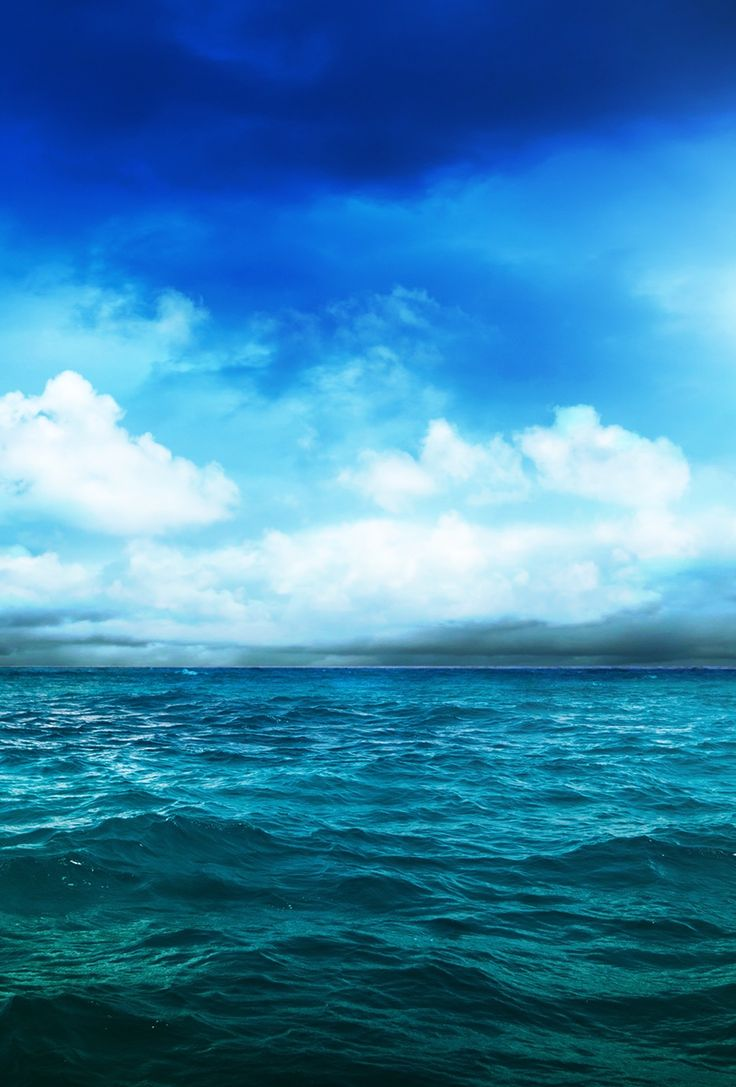 ↑↑TAP AND GET THE FREE APP! SkyUnicolor Ocean Sea Clouds Awesome Cool Amazing Water Nature Blue HD iPhone 6 Wallpaper