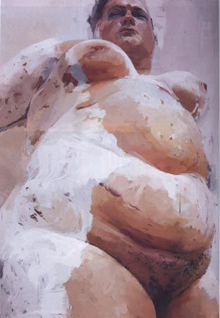 """Jenny Saville """"Hem"""" Raw and collossal and 'warts & all' real. Love it!"""