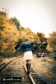 Image result for fall railroad photography senior