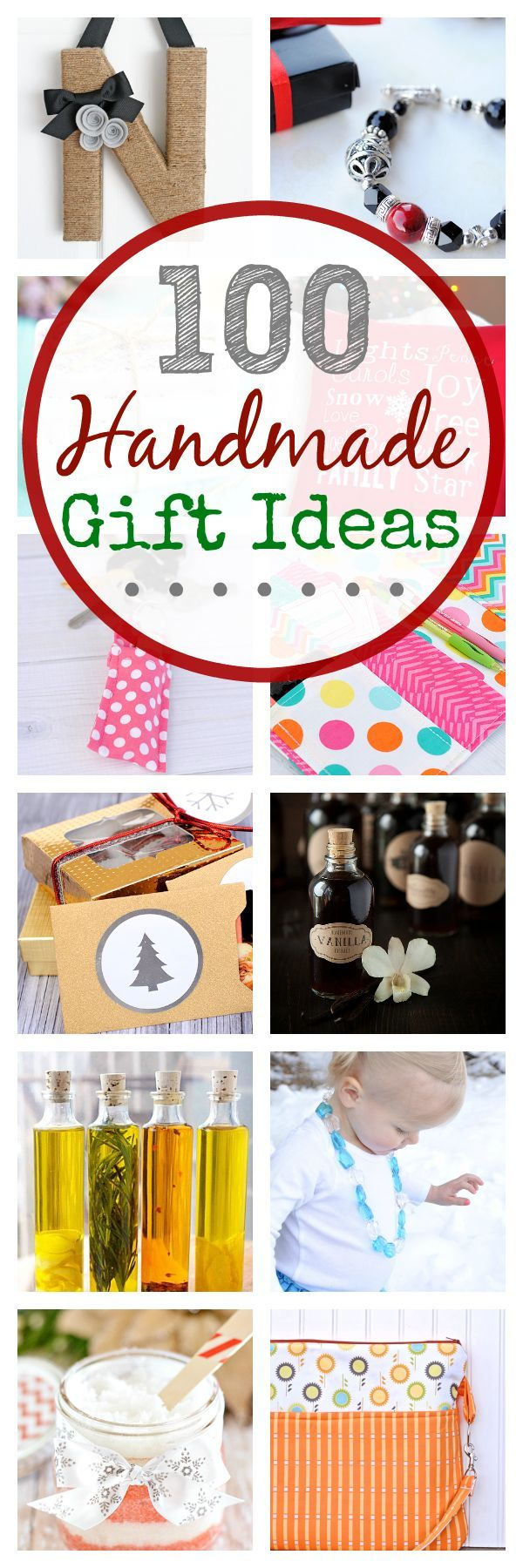 100 Handmade Gift Ideas (for kids, women, men, teens and more)