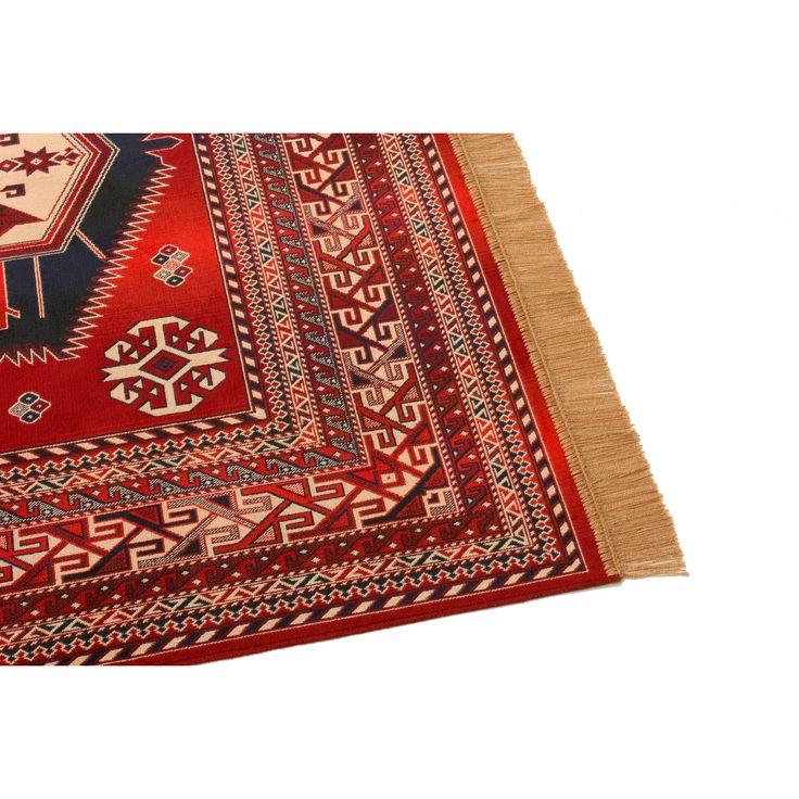 Barefoot Artsilk Rugs Afghan Kazak Red Rug