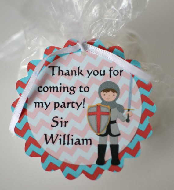 Princess and Prince Party Favor Tags, Birthday Party, Baby Shower