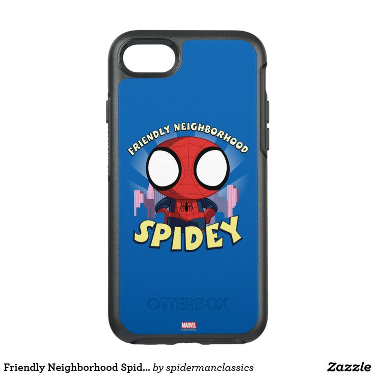 Friendly Neighborhood Spidey Mini Spider-Man OtterBox Symmetry iPhone 7 Case #superhero #Marvel #spider-man #spiderman #comics #official #licensed #merchandised #home #office #personal #communication #gadget #iphone #samsung #cover #case