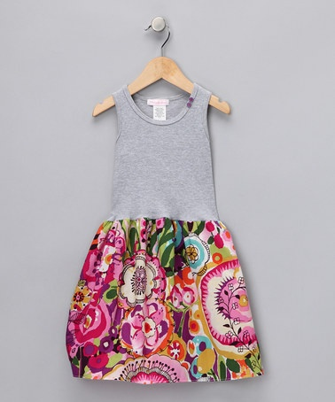 Heather Gray City Garden Dress - Infant & Toddler by Classy & Cute: Girls' Apparel