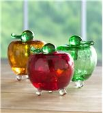 Main image for Handmade Crackle Glass Apple Fruit Fly Trap