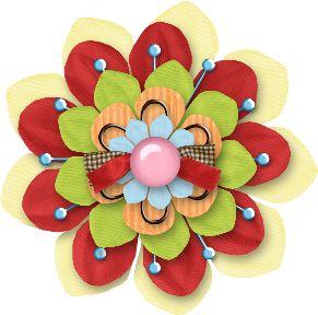 Hongos, Ositos, Flores, Botones, Marcos, Lazos, Cintas Png