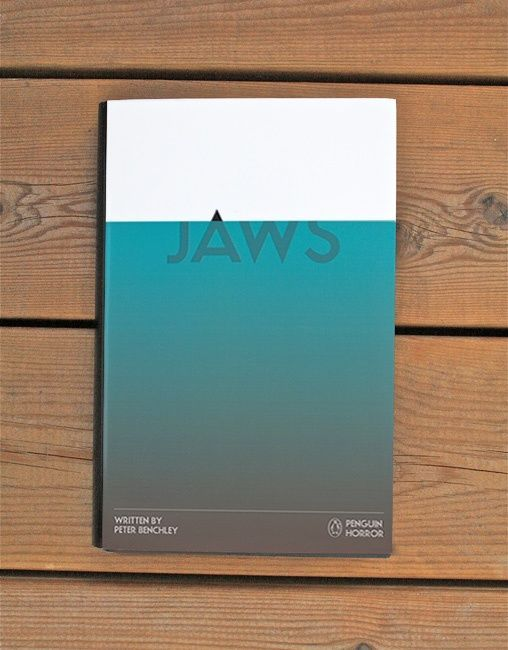 Jaws from the Penguin Horror book series by Tom Lenartowicz, book design, movie poster, editorial design, movie