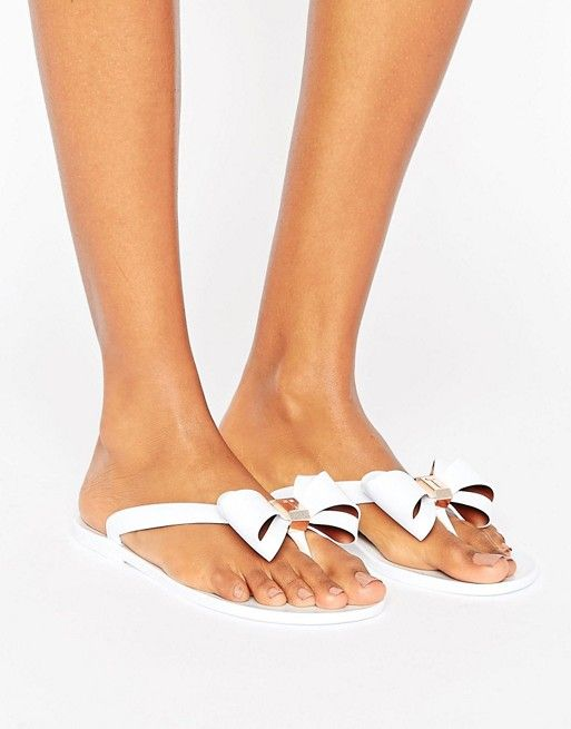 Ted Baker Rueday Sketchbook Bow Flip Flops