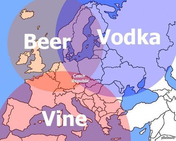 Неплохо устроились Гармония во всем) Чехия, алкоголь