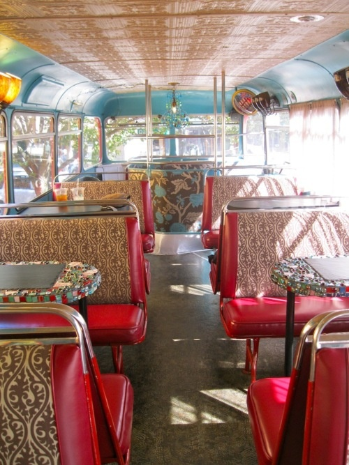 This is a coffee shop in the Carolinas.  It's a double decker bus!