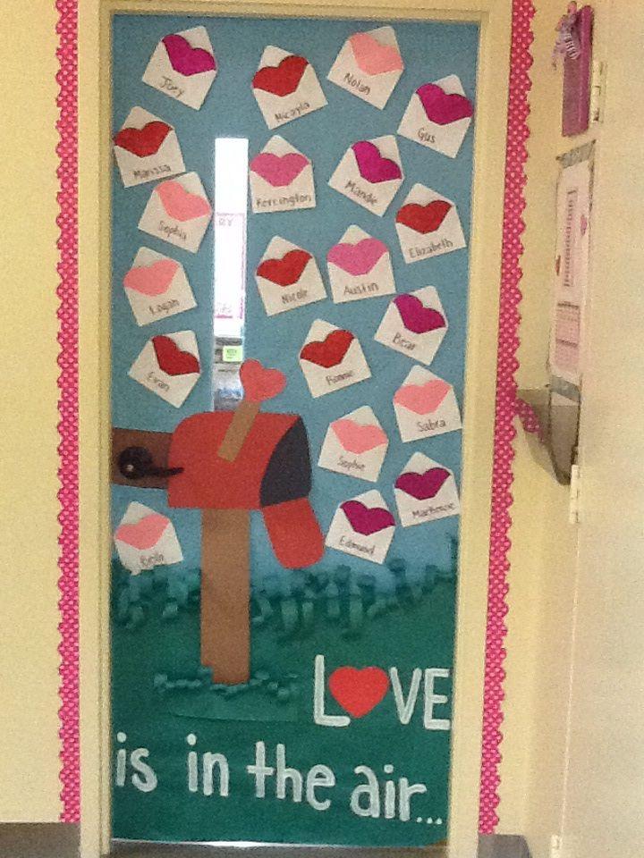 Classroom door valentine's day