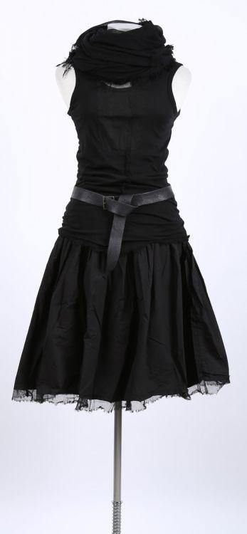 rundholz dip – Top mit Tüll Paint black – Sommer …