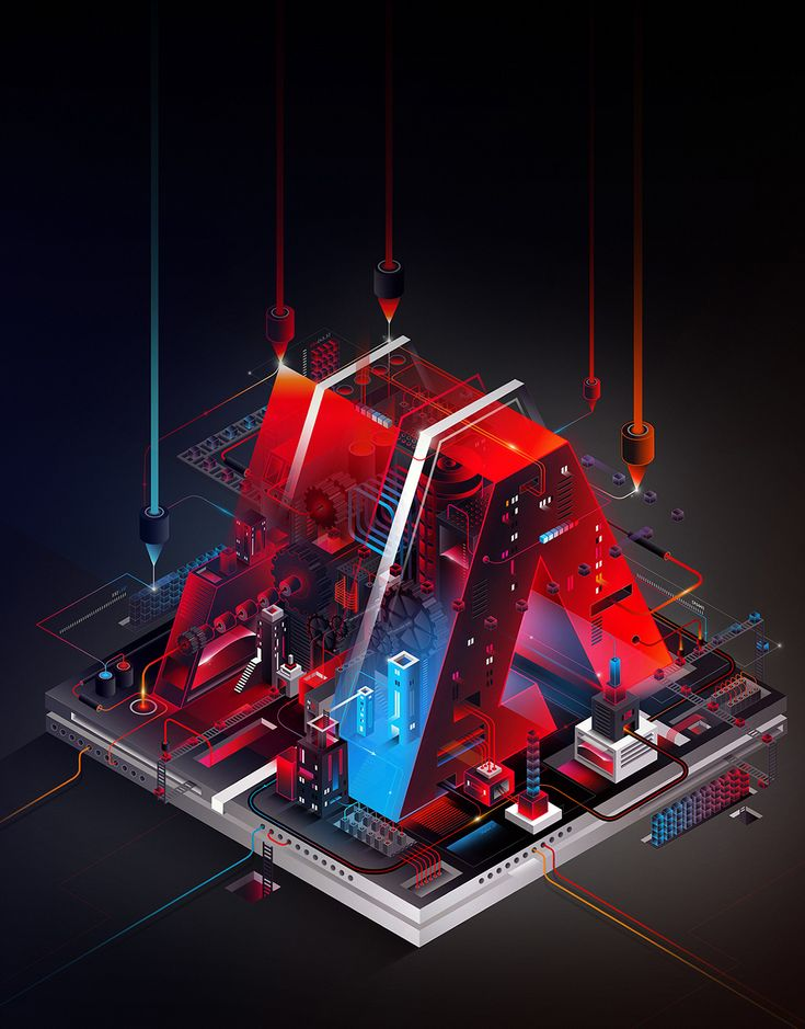Our creative gears are always turning. See David Mascha's isometric mechanical take on #AdobeRemix