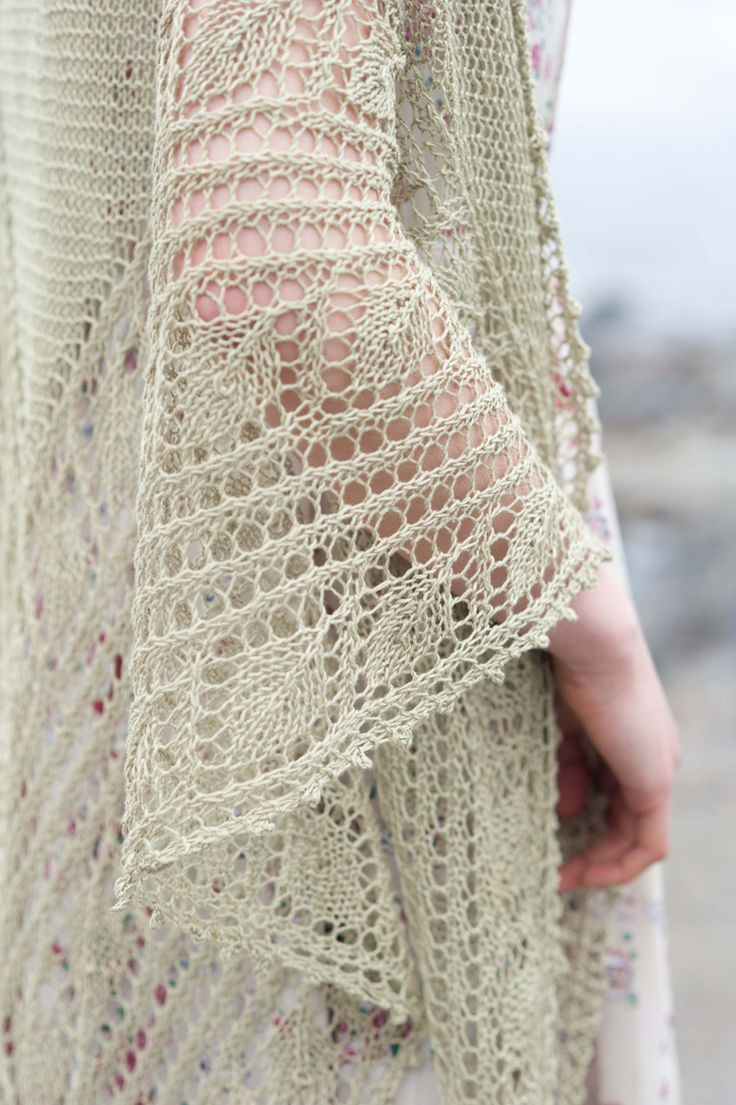 Leaves Shawl Quince & Co. #knit