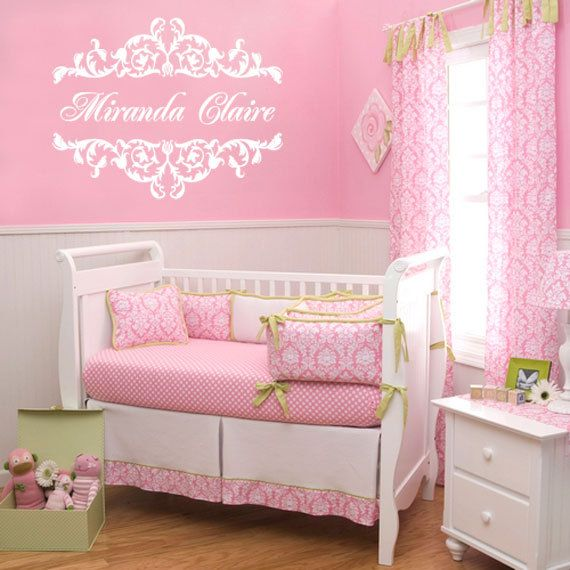 Best Girl Nursery Wall Borders Ideas On Pinterest Baby - Vinyl wall decals borders