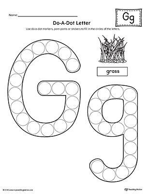 letter g do a dot worksheet alphabet pinterest worksheets alphabet worksheets and alphabet. Black Bedroom Furniture Sets. Home Design Ideas