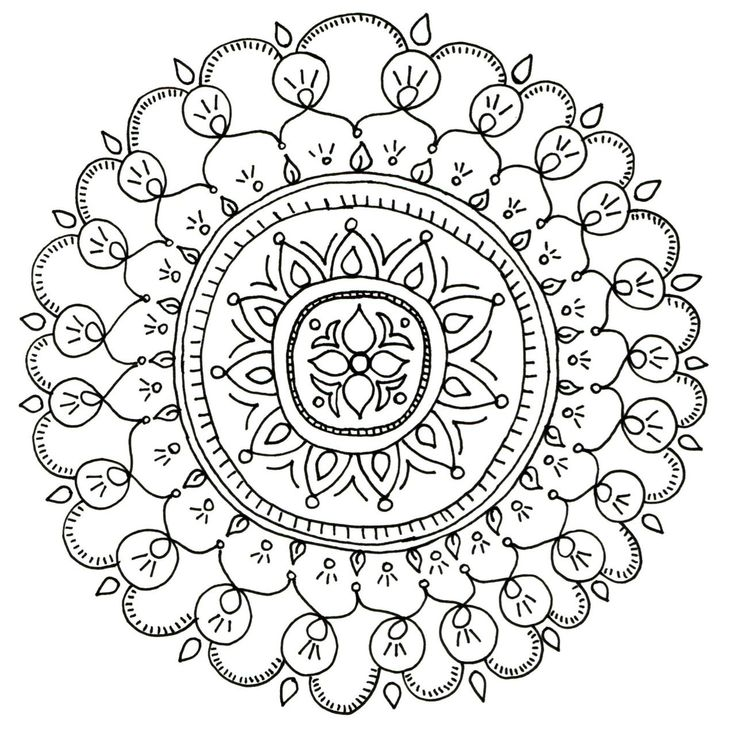 Color While Your Hubby Watches Football With These Free Downloadable Mandala Coloring Pages