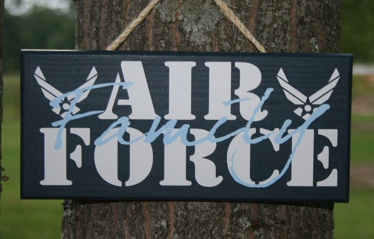 "AIR FORCE FAMILY ""New Item"" (Ready to Ship) Hand painted Military wall door hanging sign. $20.00, via Etsy."