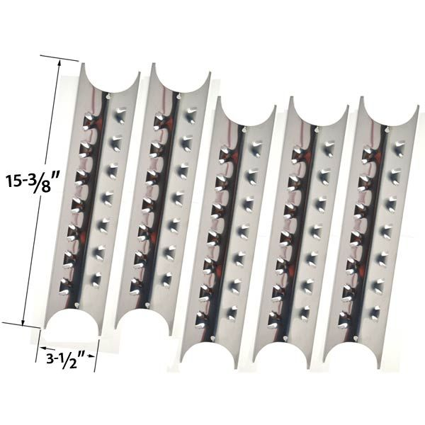 5 PACK REPLACEMENT STAINLESS STEEL HEAT PLATE FOR PERFECT FLAME 24137, 24138, P2518SL-LPG, 2518SL-NG, 2518SLN-LPG GAS GRILL MODELS Fits Compatible Perfect Flame Models : 24137, 24138, P2518SL-LPG, 2518SL-NG, 2518SLN-LPG Read More @http://www.grillpartszone.com/shopexd.asp?id=34787&sid=38208