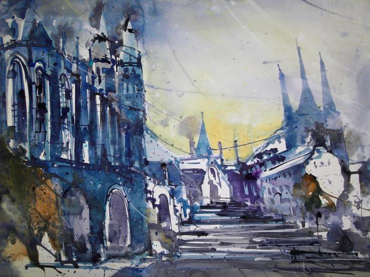 Erfurt, Watercolor, 56 x 76 cm, 2011