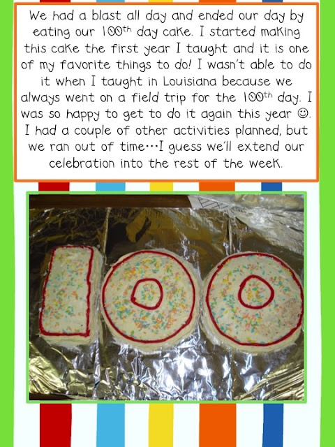 100th Day Fun... I had way to much planned but it was a great day..this is a fun celebration idea!
