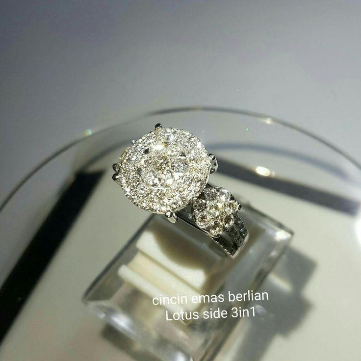New Arrival🗼. Cincin Emas Berlian Lotus side 3in1💎💍.   🏪Toko Perhiasan Emas Berlian-Ammad 📲+6282113309088/5C50359F Cp.Antrika👩.  https://m.facebook.com/home.php #investasi#diomond#gold#beauty#fashion#elegant#musthave#tokoperhiasanemasberlian
