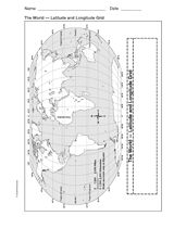 World Map With Longitude And Latitude Tropic Of Cancer And - Blank world map 6th grade