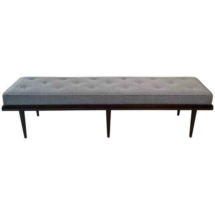view this item and discover similar benches for sale at clean lined midcentury modern solid walnut framed bench refinished in a deep chocolate brown
