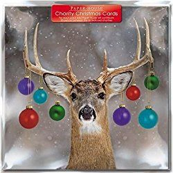 Charity Christmas Cards - Decorated Deer - Cards - Sold In Support Of The British Heart Foundation, Age UK, Tenovus, MNDA Association, NSPCC & Diabetes UK by Paper House
