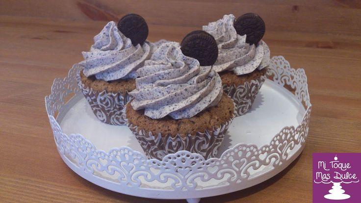 Mi Toque Mas Dulce: Cupcakes con galletas de chocolate y vainilla (Ore...