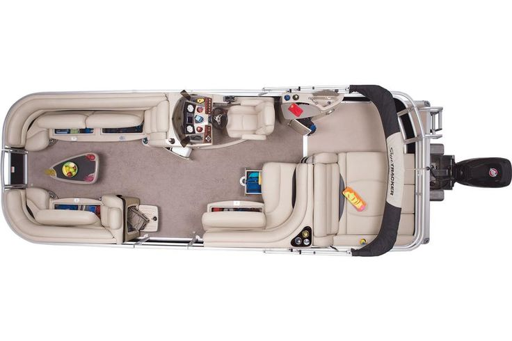 2014 Sun Tracker® Regency 254 XP3 - Top View w/Open Compartments #features #SunTracker #pontoon http://www.exclusiveautomarine.com/product/party-barge-254-xp3