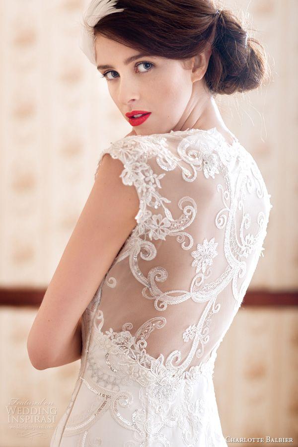 Charlotte Balbier 2014 beaullea wedding dress illusion back