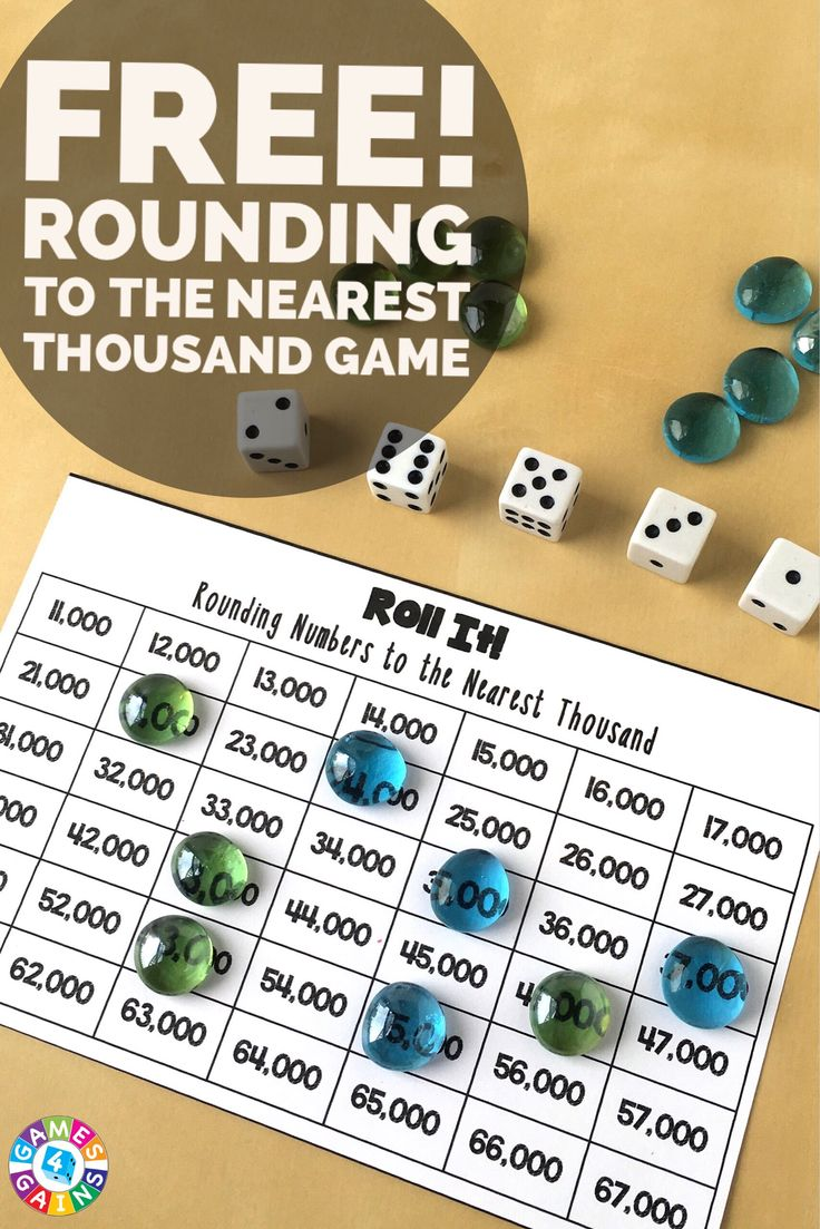 Roll It! Rounding Game Rounding games, Math place value