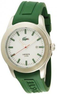 Relógio Lacoste Men's 2010412 Advantage Green Rubber Watch #Relogios #Lacoste