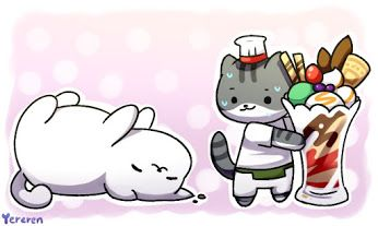 So Cute! This is from a popular cat app called Neko Atsume