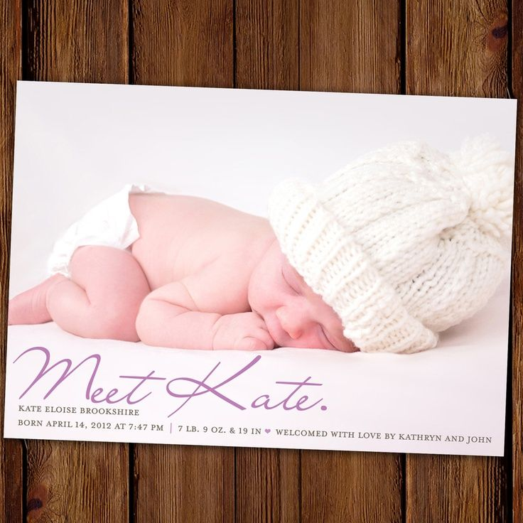 17 best Birth Announcement Templates images on Pinterest Baby - birth announcement template