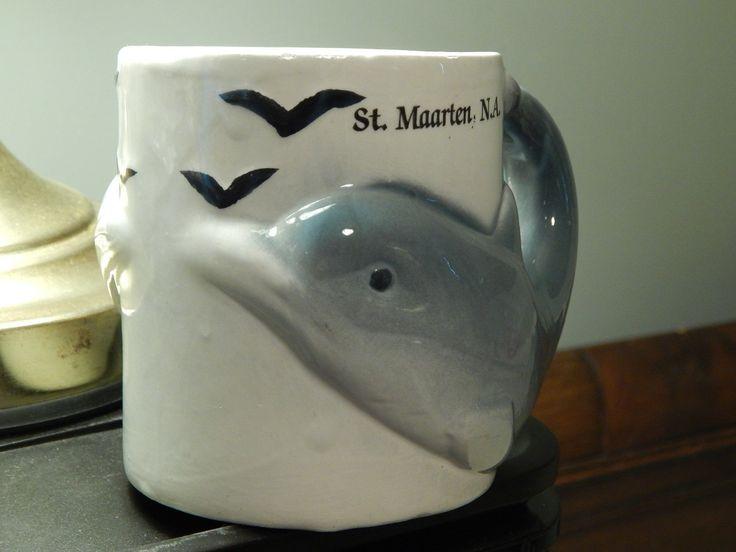 """St. Maarten, Na_caribbean """"the Friendly Island"""" 3d Dolphin Double Sided Mug_cup"""