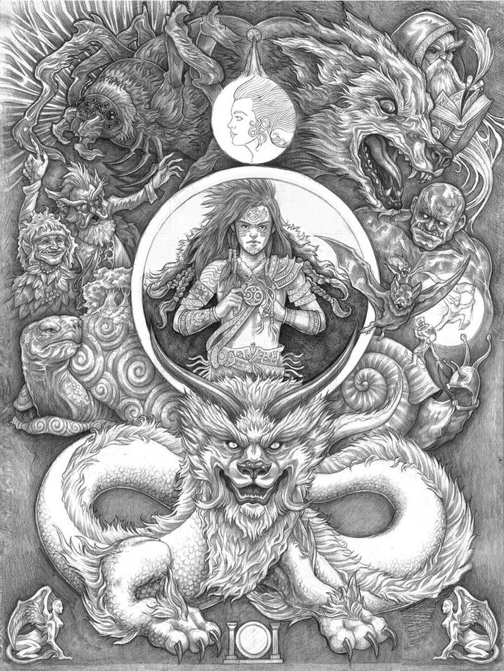 Watching: The Neverending Story [art by GoldenDaniel] / so far the girls are enthralled!