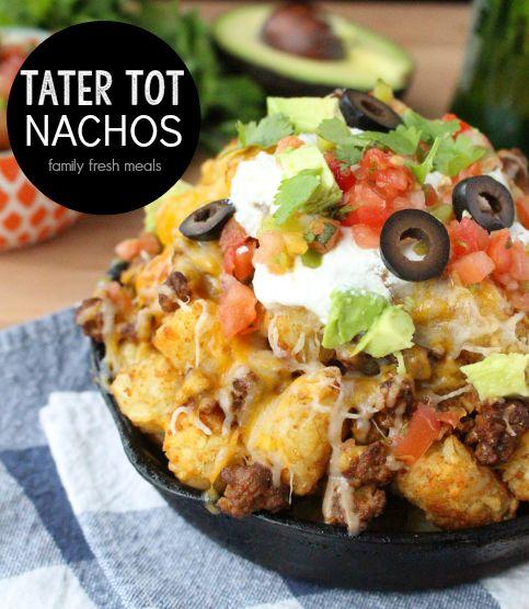 Tater Tot Nachos - FamilyFreshMeals.com - fb