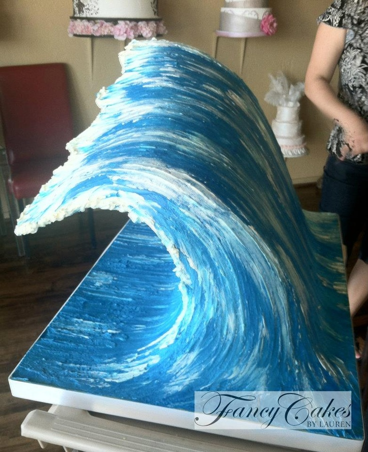 Cake Decorating Making Waves : Gravity defying wave cake - Fancy Cakes by Lauren Kitchens ...