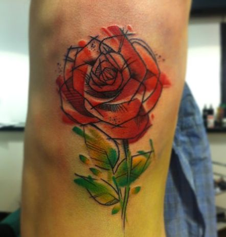 88 best images about banner tattoo on pinterest for Abstract rose tattoo