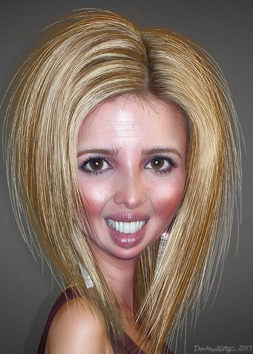 https://flic.kr/p/RtMdMR | Ivanka Trump - Caricature | Ivanka Marie Trump, aka Ivanka Trump, is an executive in the Trump Organization and is the daughter and of US President Donald Trump and his first wife, Ivana Trump.  This caricature of Ivanka Trump was adapted from a Creative Commons licensed photo by Pattie's Flickr photostream.