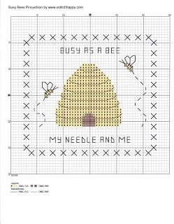 Cross Stitch Happy: Busy Bees Pincushion