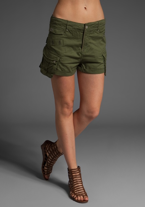 G-Star The Laundry Officer Mini Cargo Short in Sage