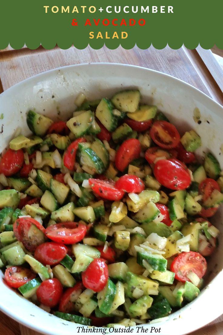 Tomato Cucumber and Avocado Salad