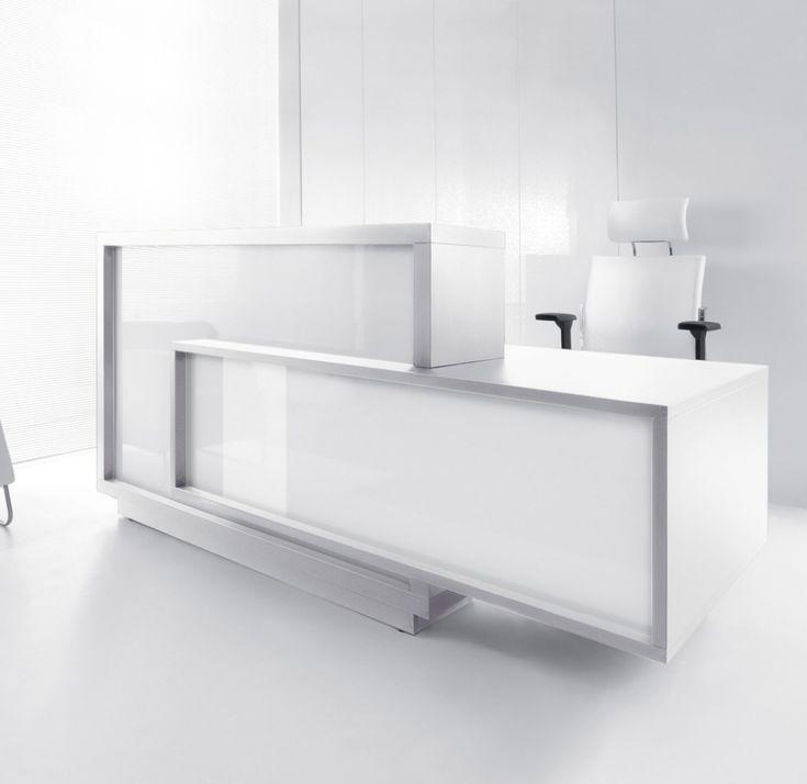 Modern White Reception Desk - Modern Home Office Furniture Check more at http://michael-malarkey.com/modern-white-reception-desk/
