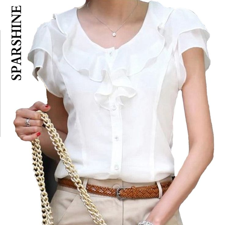 2016 Summer Style Brand New Turn-Down Collar Casual Slim Chiffon Blouses Women Shirt Female Blouse Ladies Tops