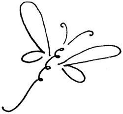 Penny Black Scroll dragonfly